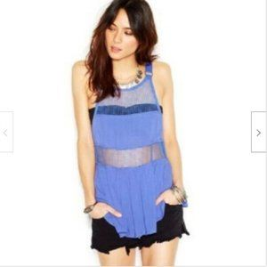 Free People Snap Out of It Tank~Dutch Blue~L